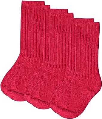Aibrou 3/5 Ninos/Ninas Calcetines Largos Lana de 80% Unisex,Absorbe el sudor,Desodorante,Transpirable y Antibacteriano