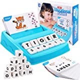 LORDSON Matching Letter Game for Kids Ages 3-8, 2 in 1 Spelling and Reading Educational Learning Toys Flash Cards Preschool F
