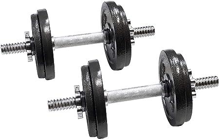 side facing cap barbell 60-pound adjustable dumbbells