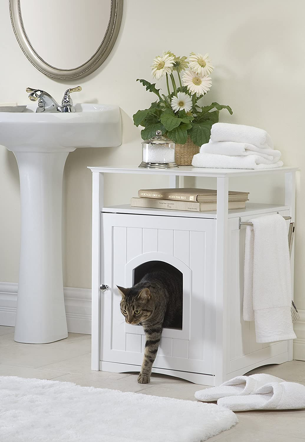 amazoncom merry pet cat washroom night stand pet house cat houses and condos pet supplies cat litter box covers
