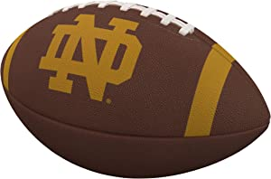 Logo Brands Officially Licensed NCAA Team Stripe Official-Size Composite Football, Brown