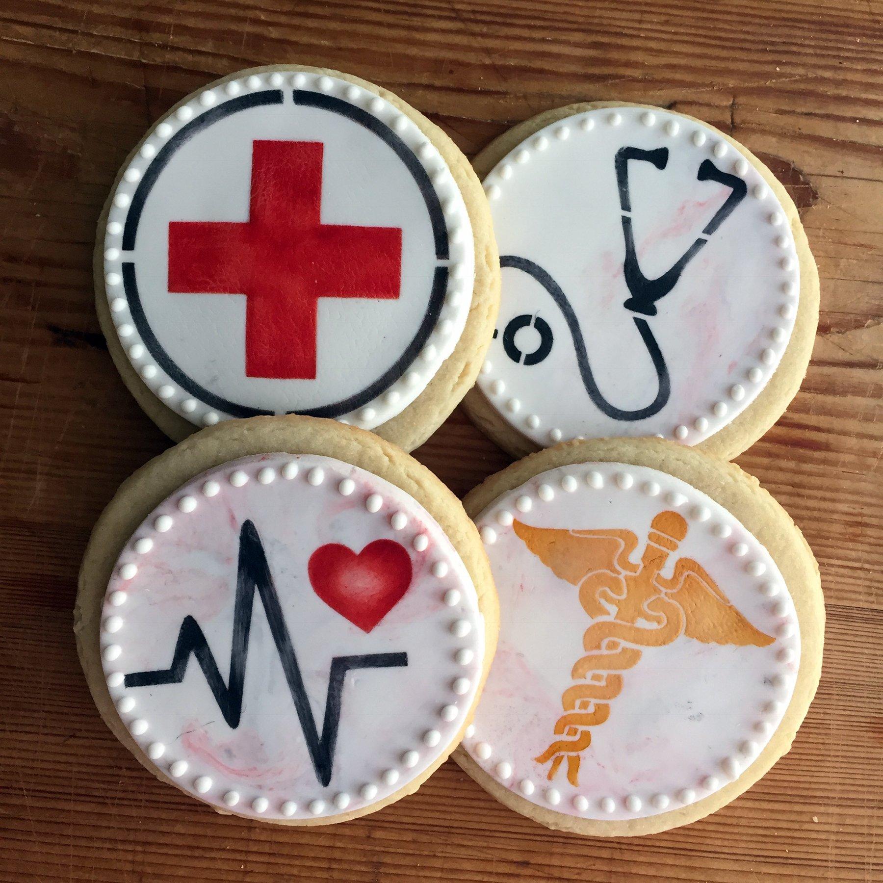 Medical Symbols Cookie Stencil Set C992 By Designer Stencils by Designer Stencils