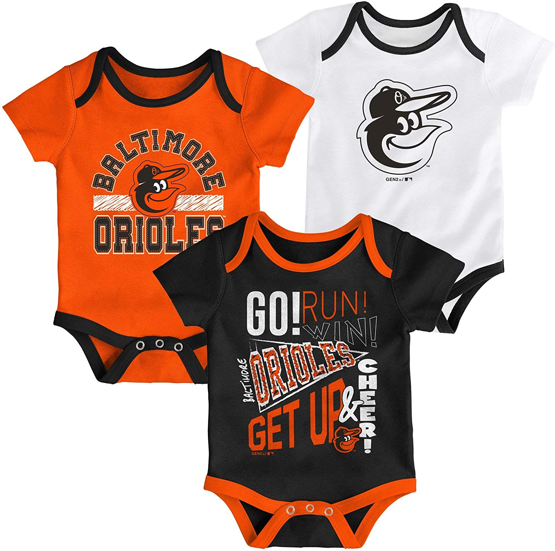MLB Newborn Infants Newest Rookie 3 Piece Bodysuit Creeper Set