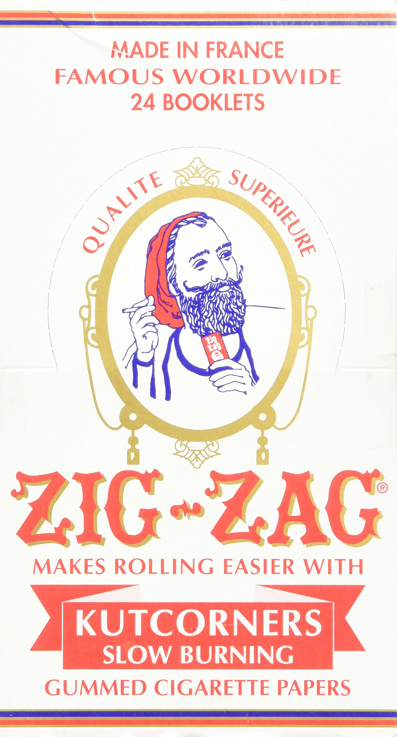 Zig Zag White Cut Corners Cigarette Rolling Papers (24 Booklets Retailers Box) by Zig Zag