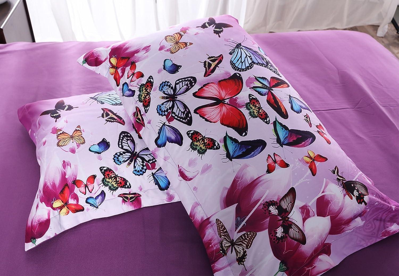 ENCOFT Parent and Kid Unicorn Pink 3D Comforter Bedding Sets 3 Pieces,Tencel Cotton Unicorn Comforter Sets with 2 Pillowcases