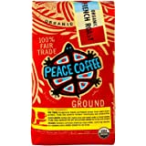 Peace Coffee Organic Fair Trade French Roast Ground 12oz