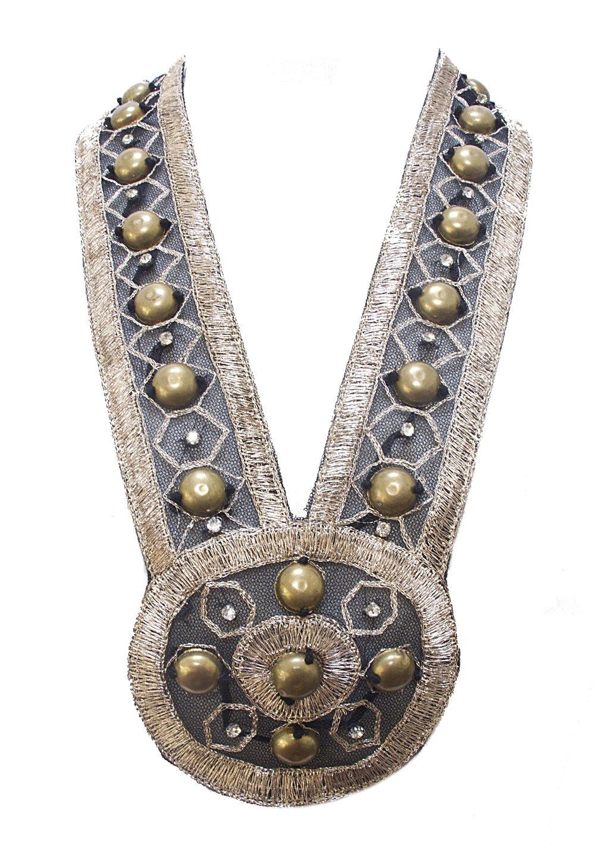 Medallion Statement Necklace Soft Jewelry Black Gold