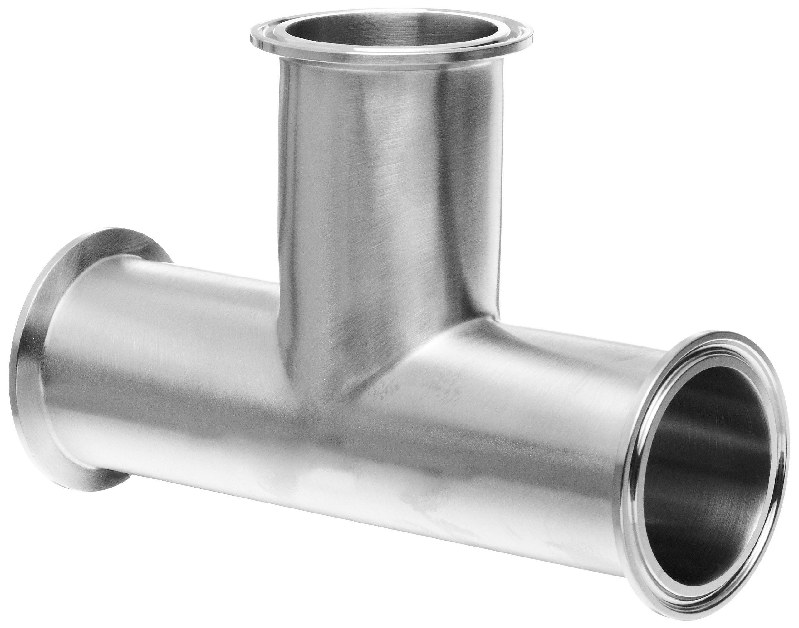 Dixon B7MP-R200 Stainless Steel 316L Sanitary Fitting, Clamp Tee, 2'' Tube OD
