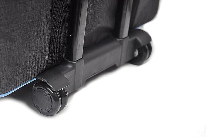 foolsGold bolsa/carrito con ruedas profesional acolchonado para maquina de coser - Gris oscuro/azul: Amazon.es: Hogar