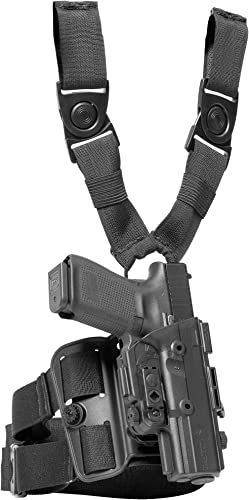 Alien Gear ShapeShift Drop Leg Tactical Holster - Custom Fit for Your Gun (Select Pistol Size) - Right or Left Hand - Adjustable Retention and Cant - Made...