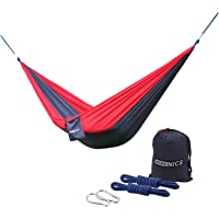 Camping Hammocks, WoneNice Portable Lightweight Nylon Parachute Multifunctional Hammock with Hanging Straps for Backpacking Travel Beach Yard