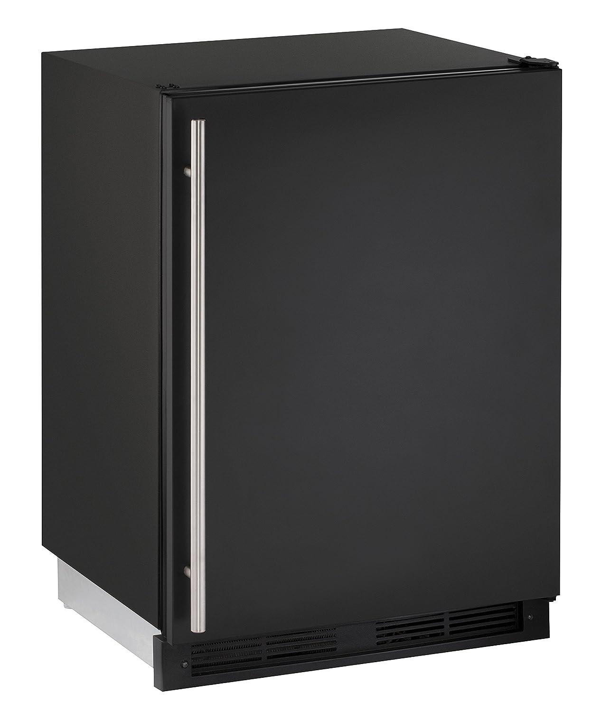 "U-Line U-CO1224FB-00A 24"" Under Counter Combo Refrigerator/Ice Maker, Black (Certified Refurbished)"