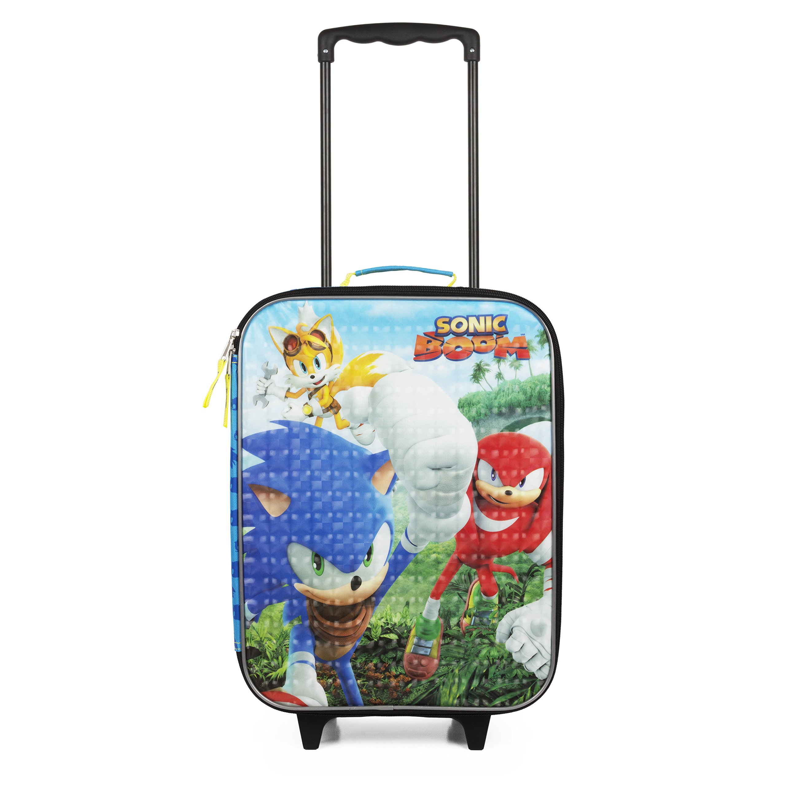 Sega Sonic Blue Travel Pilot Case Luggage for Boys