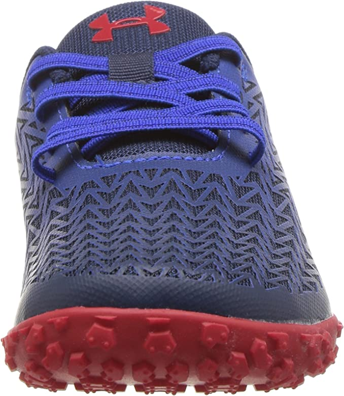 Under Armour 6k Toddler Infant Road Hugger Sneakers No Tie Red Blue NEW