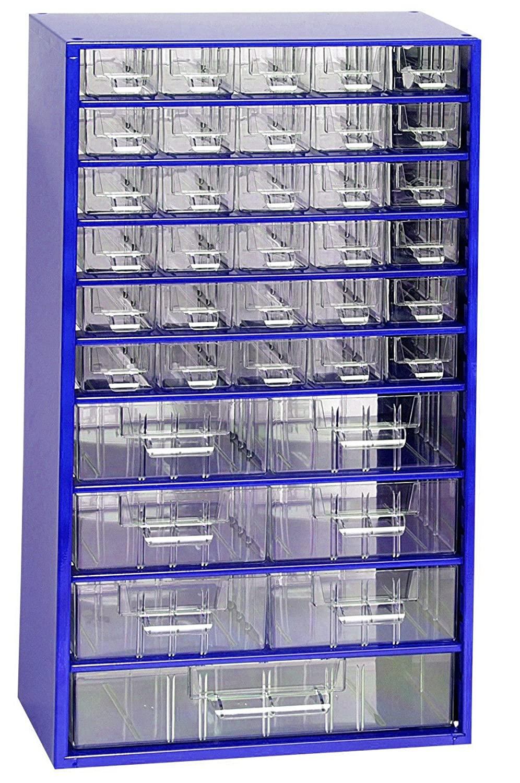 Kleinteilemagazin METALL 551x306x155 mm blau RAL 5002. 30+6+1 Schubladen Werkstattqualitä t HuW