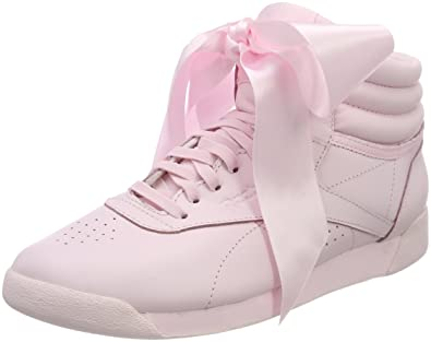 f3c6f34bff40b Reebok Women's Freestyle Hi Satin Bow Top Trainers: Amazon.co.uk ...