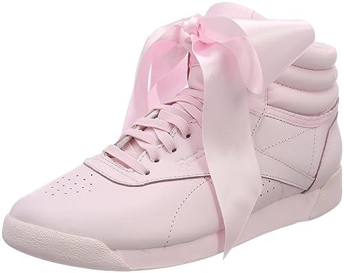 F/s Hi Satin Bow, Zapatillas de Gimnasia para Mujer, Varios Colores (White/Skull Grey White/Skull Grey), 42 EU Reebok