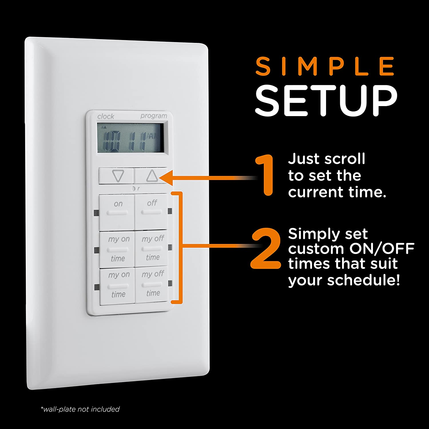 Amazoncom Mytouchsmart In Wall Digital Timer, White, 4 Programmable On And