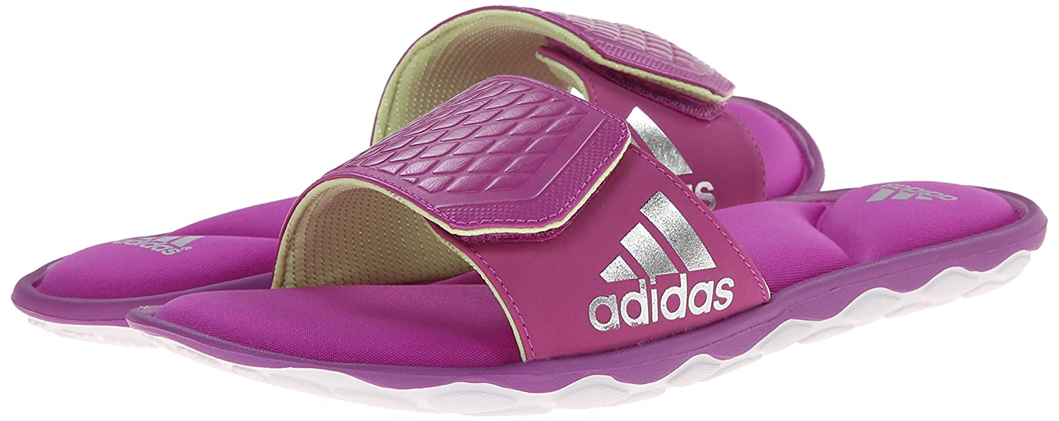 fa96ded12900 adidas Performance Women s Anyanda Flex Slide W Athletic Sandal  Pink White Silver 10 B(M) US  Buy Online at Low Prices in India - Amazon.in