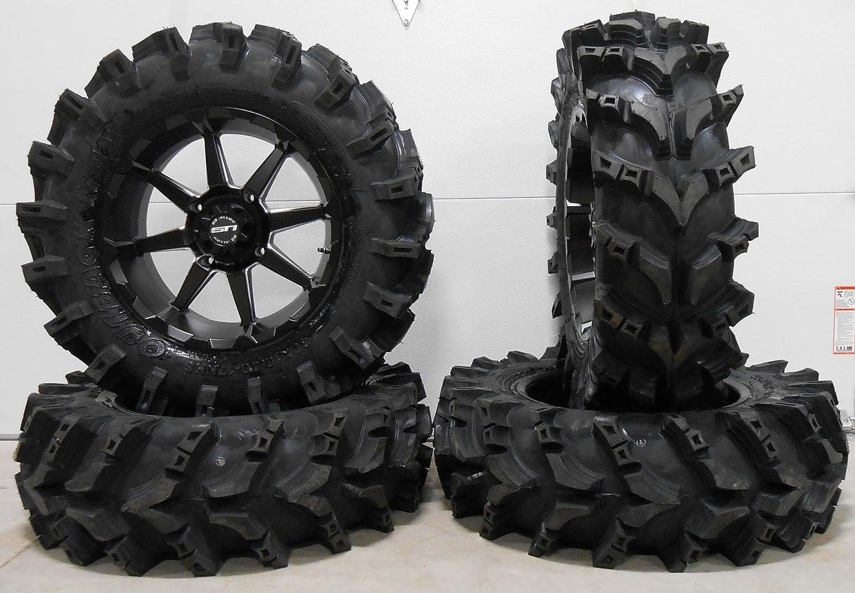 Bundle - 9 Items: STI HD6 17' Wheels Black 32' Outback Max Tires [4x137 Bolt Pattern 12mmx1.5 Lug Kit] Multiple