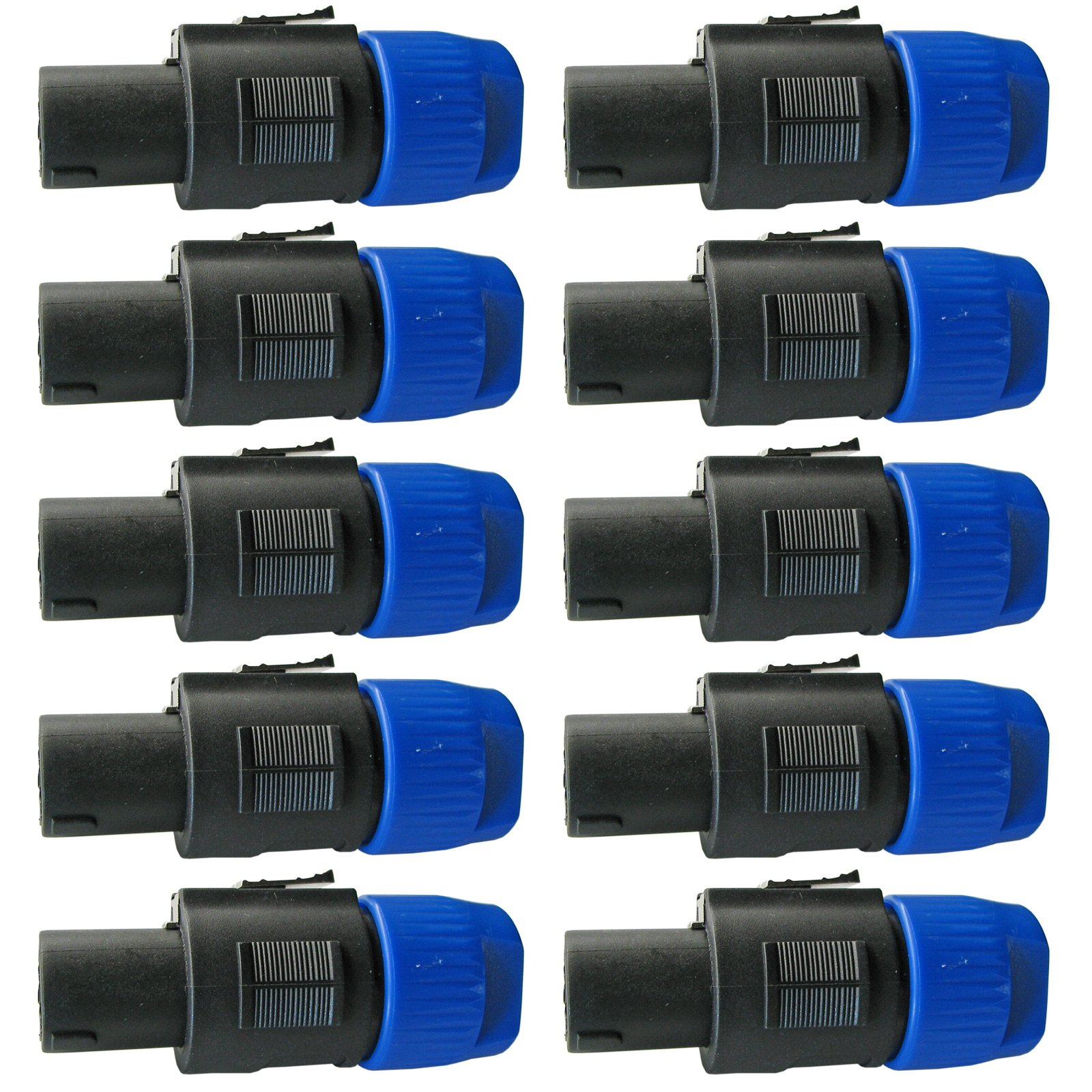 Yovus 10 Pack: Male Twist Lock Speaker Cable Connector For Speakon Speaker cable 4 pole