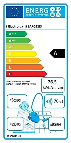 Electrolux EAPC51IS Aspirapolvere senza Sacco Aeroperformer Cyclonic Regolazione della Potenza Blu Versione Base Hygiene Filter 10 Tecnologia Ciclonica