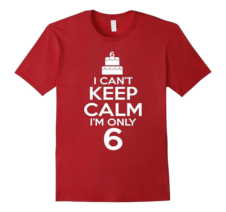 I Cant Keep Calm 6 Year Old Shirt 6th Birthday Gift Ideas TD