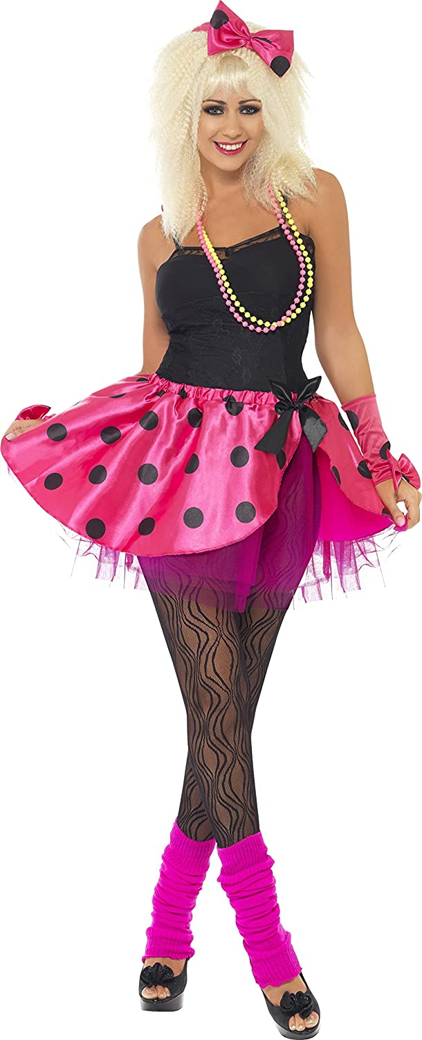 Smiffy's Tutu Instant Kit with Headband and Fingerless Gloves - Pink, Small, Medium or Large.