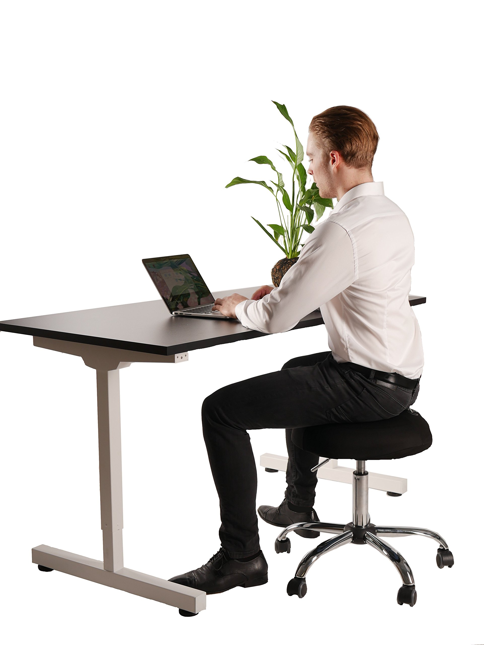 Balance Ball Office Chair Stool, Jellyfish Adjustable Chair by Coreseat | Ergonomic Exercise Office Chair that Provides Stability and Core Strength for the Home, Office or Classroom by Coreseat (Image #2)