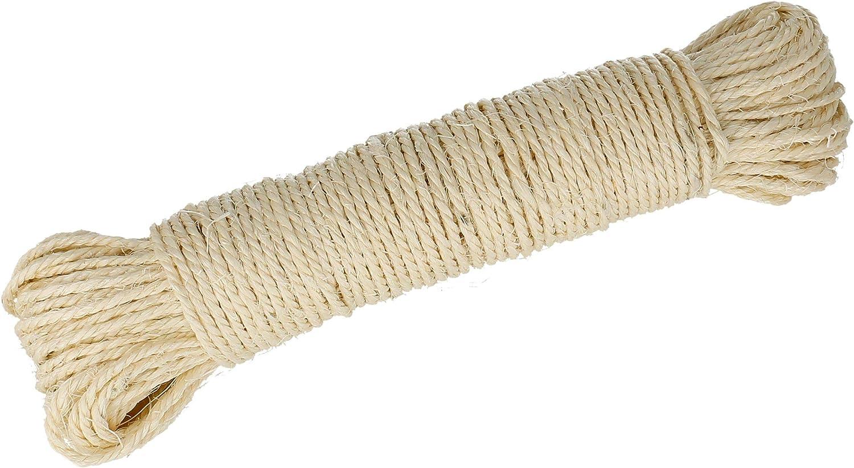 Lantelme 50 metros de cuerda de sisal natural para arañador, árbol para gatos 3974
