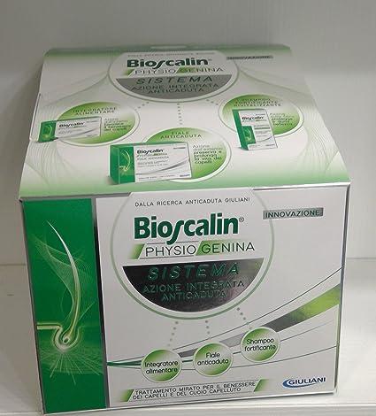 bioscalin physiogenina 30 Cop pelo Anticaída Hombre + Champú 200 ml + 10 ampollas Novita