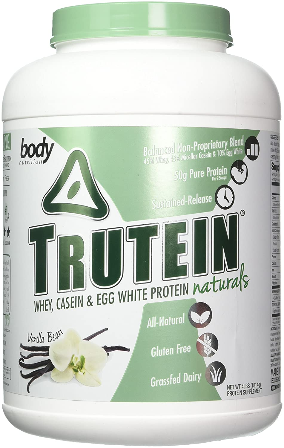 Body Nutrition Trutein Naturals Vanilla Bean Protein Blend 4 LB