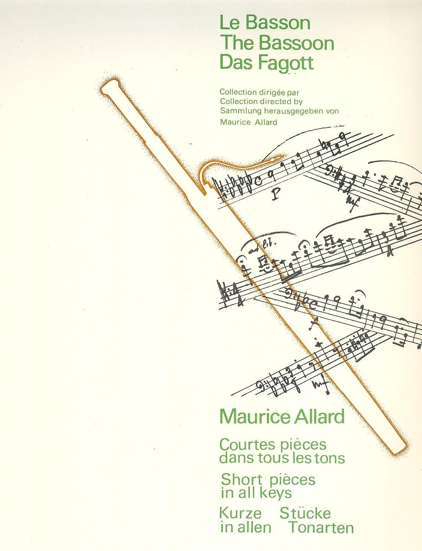 Partitions Classique Billaudot Allard Maurice - Courtes Pieces Dans Tous Les Tons : N.11 Decide - N.12 Enjoue - Basson Et Piano Basson
