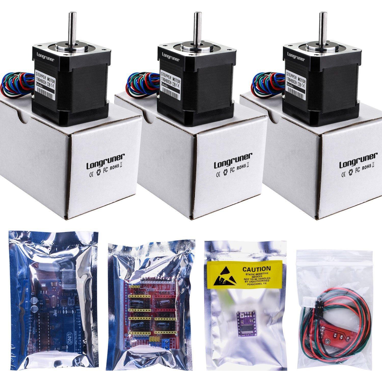 Longruner For Arduino Professional 3d Printer Cnc Kit Grbl Sainsmart Ramps 14mega 2560 R3a4988opto Endstop Switch Shield Uno R3 Board 14 Mechanical Drv8825 A4988 Stepper Motor