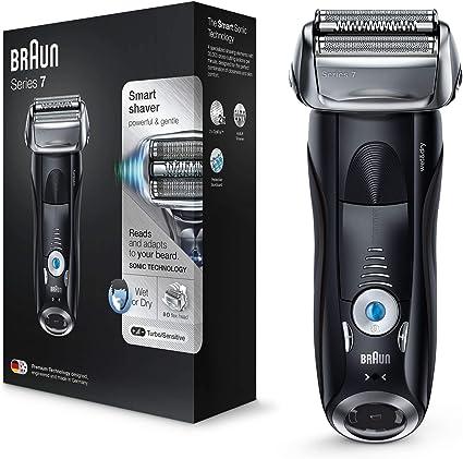 Braun Series 7 7840 s - Afeitadora eléctrica para hombre de lámina, en húmedo y seco, máquina de afeitar barba recargable e inalámbrica, negro: Amazon.es: Salud y cuidado personal
