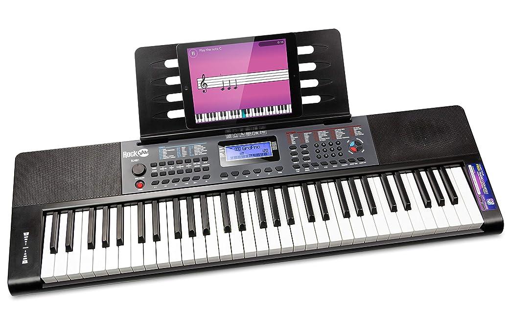 RockJam RJ461 Teclado Electrónico Portátil de 61 Teclas - El Mejor Piano Eléctrico del Mercado
