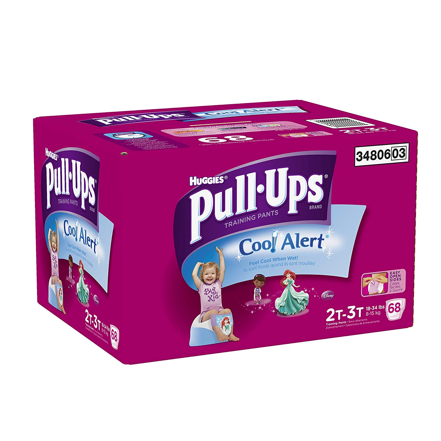 Amazon.com: Pull-Ups Training Pants with Cool Alert for Girls, 68 Count: Health & Personal Care