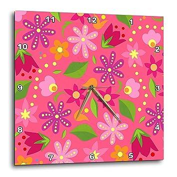 Amazon Com 3drose Sven Herkenrath Art Cute Floral Pattern On Pink