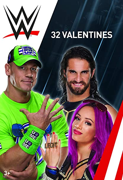 Amazoncom Wwe Wrestling 32 Valentines Day Cards Office Products