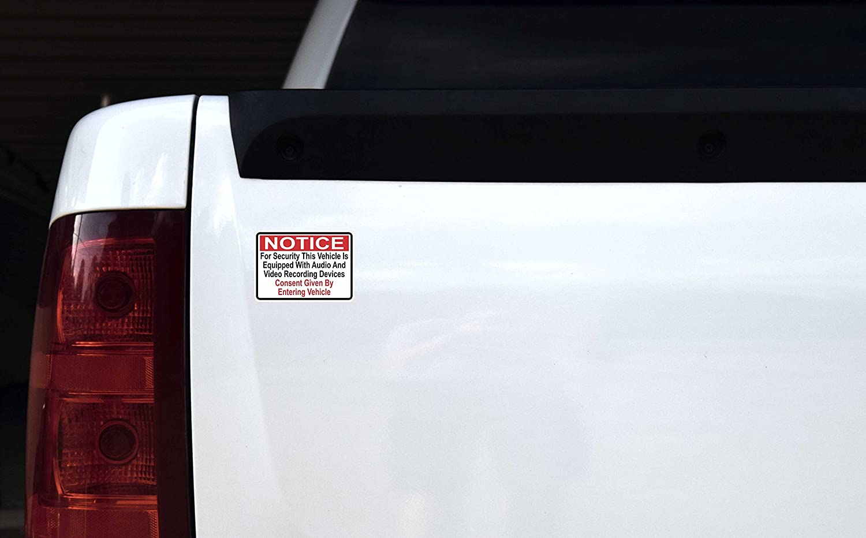 Amazon.com: [2X] 3.5x2.5 Audio and Video Recording Consent Stickers:  Automotive