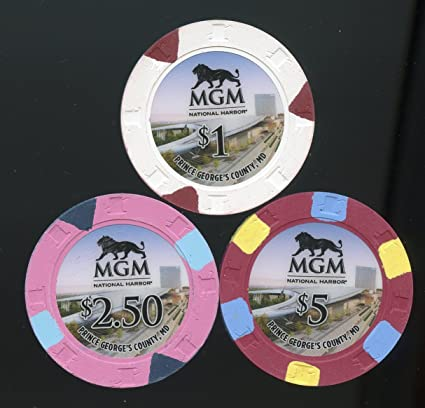 Amazon com : $1 & $2 50 & $5 Casino chip set from MGM