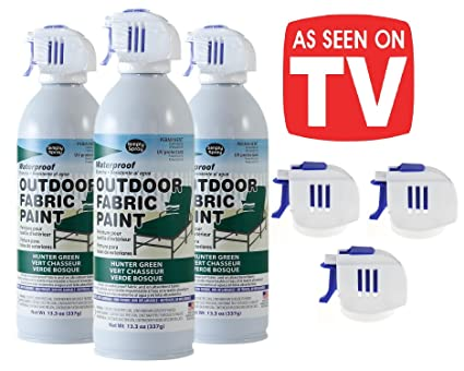 As Seen on TV Simply Spray - Outdoor Waterproof All Purpose Permanent Spray Paint with Extra Replacement Nozzle - 13.3 oz - New Improved Nozzle! ...