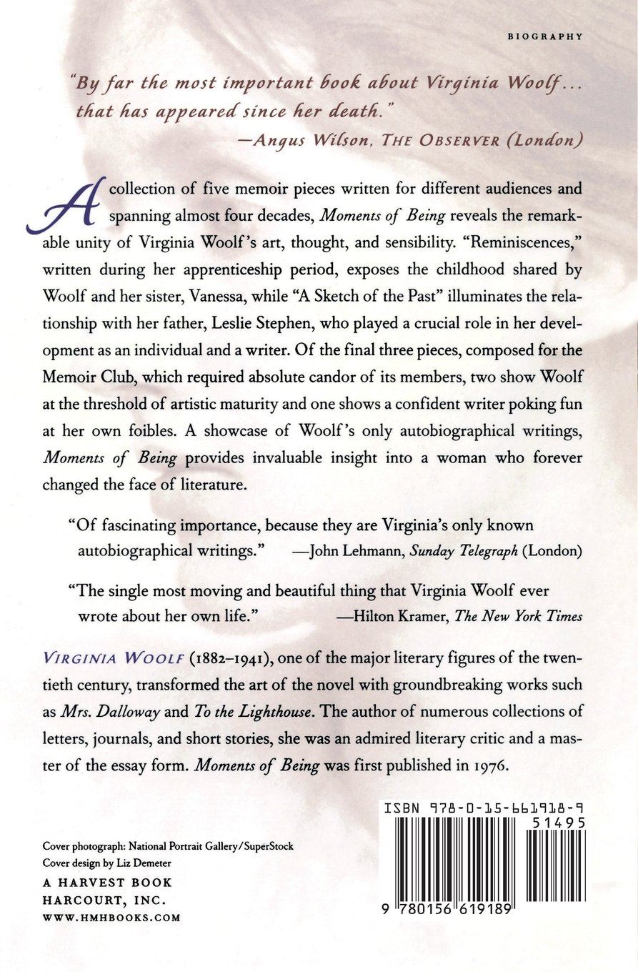 Moments Of Being Virginia Woolf  Amazoncom Books