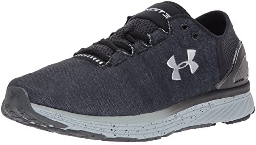 Under Armour Mens Charged Bandit 3   Stealth Gray Black Metallic Silver   9