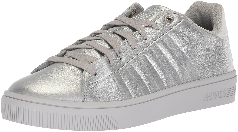 K-Swiss Women's Court Frasco Sneaker B073WXYX9J 8.5 B(M) US|Silver/White/Barely Blue