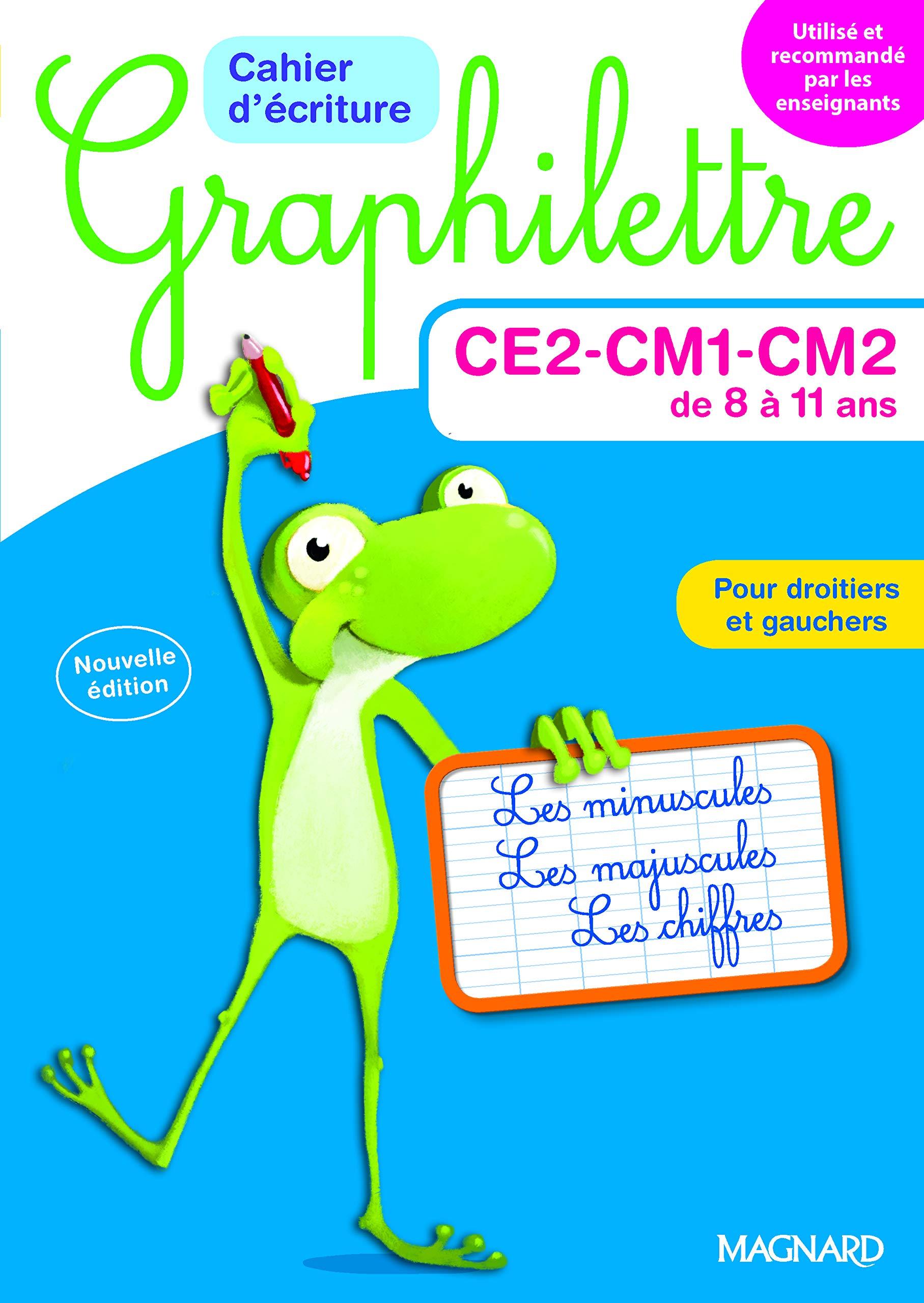 [DHAV_9290]  Graphilettre - Cahier d'écriture CE2/CM1/CM2: 9782210757240: Amazon.com:  Books | Ce2 Cm1 |  | Amazon.com