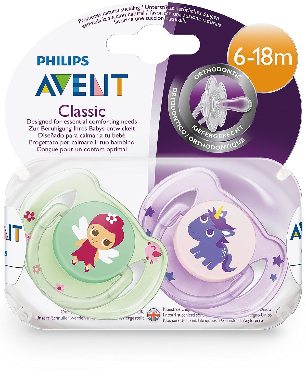 Philips Avent - Set de 2 chupetes decorados: Amazon.es: Bebé