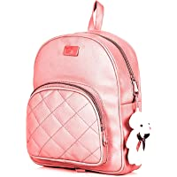 GIRLS PU LEATHER BACKPACK SCHOOL BAGS TRAVEL BAGS COLLAGE BAGS 10L BACKPACK