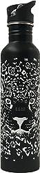 Botella KA-AB de Acero Inoxidable para Agua Jaguar Negro capacidad 1lt