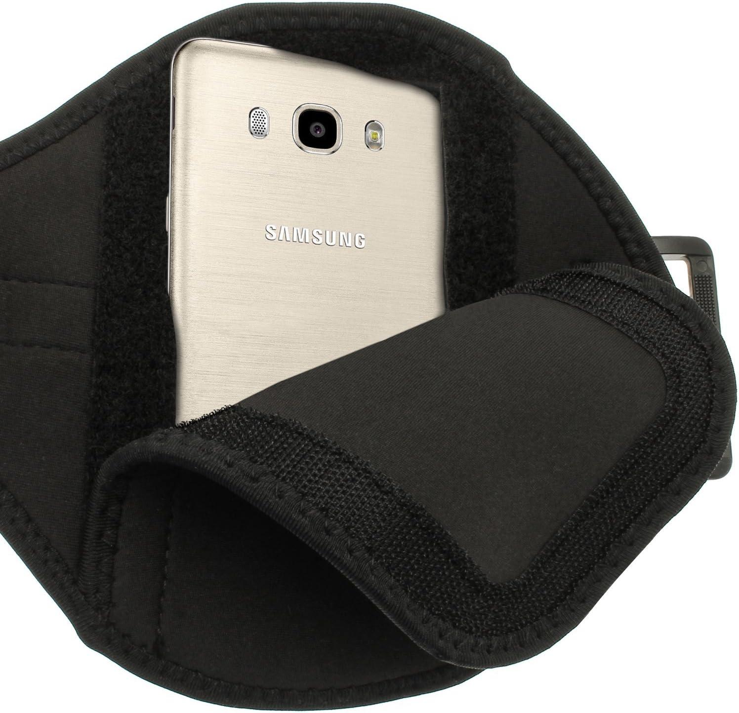 iGadgitz Water Resistant Black Sports Jogging Gym Armband for Samsung Galaxy J5 J510FN 2016